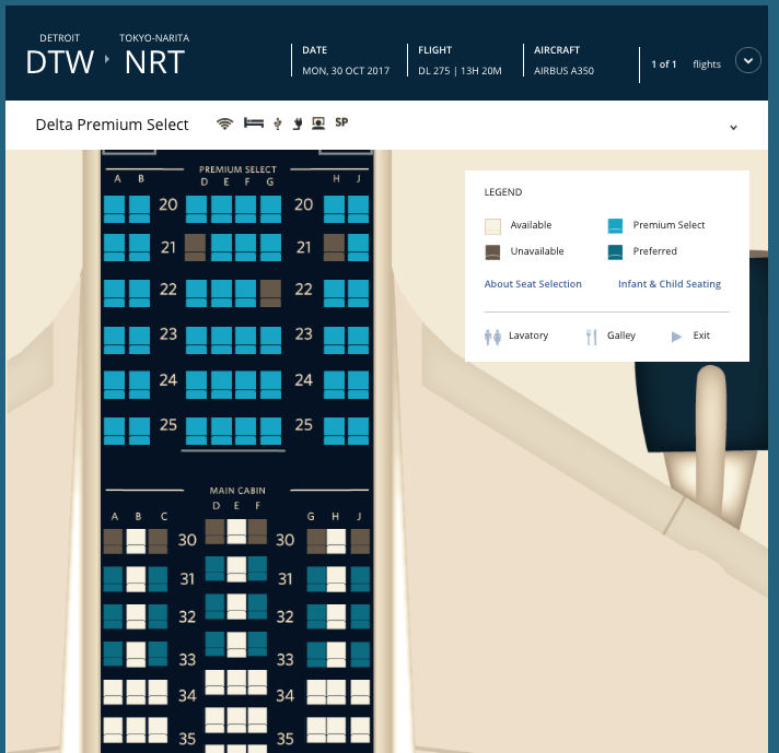 Delta's First A350 Now Bookable With Cash or SkyMiles on