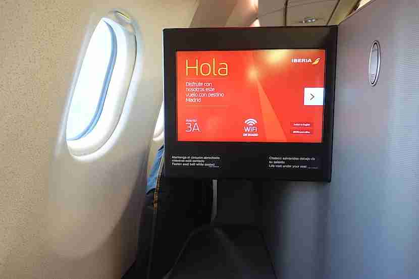 Iberia IFE screen