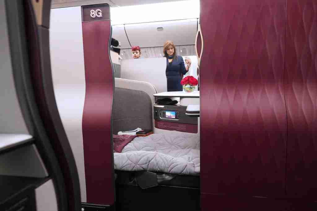 Qatar 777 Qsuite Tour