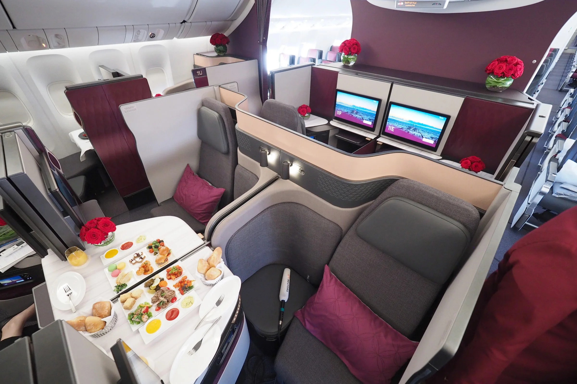 First Look Qatar Airways Qsuite Business Class