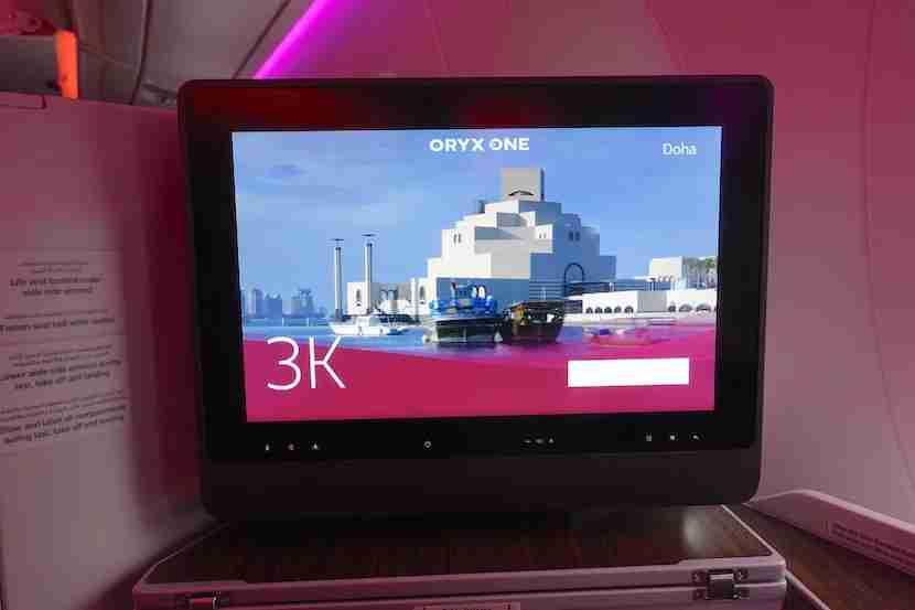 Qatar A350 IFE
