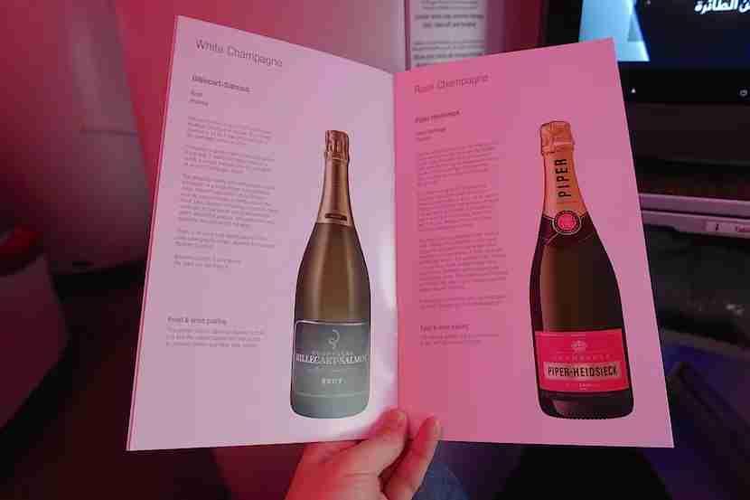 Qatar A350 champagne