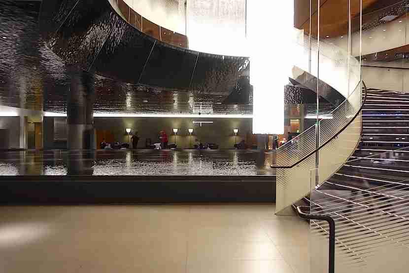 Qatar lounge staircase