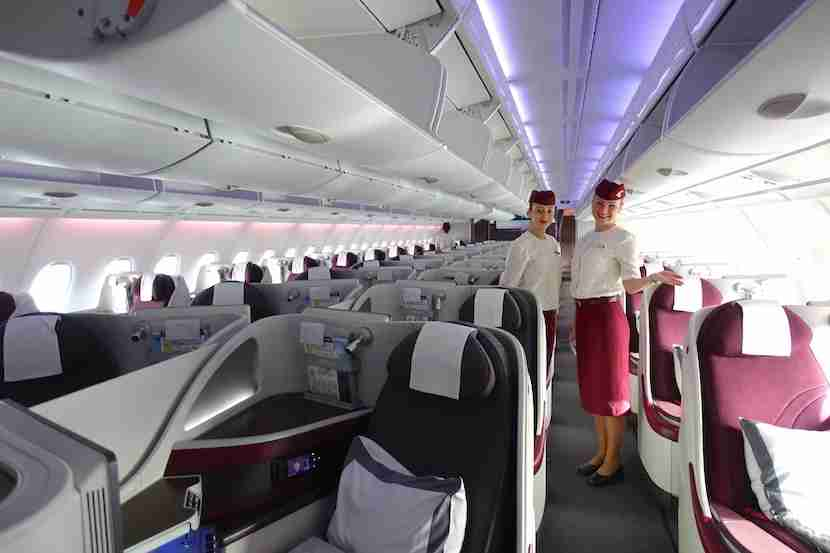 Qatar welcome cabin