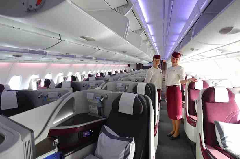 Qatar welcome cabin