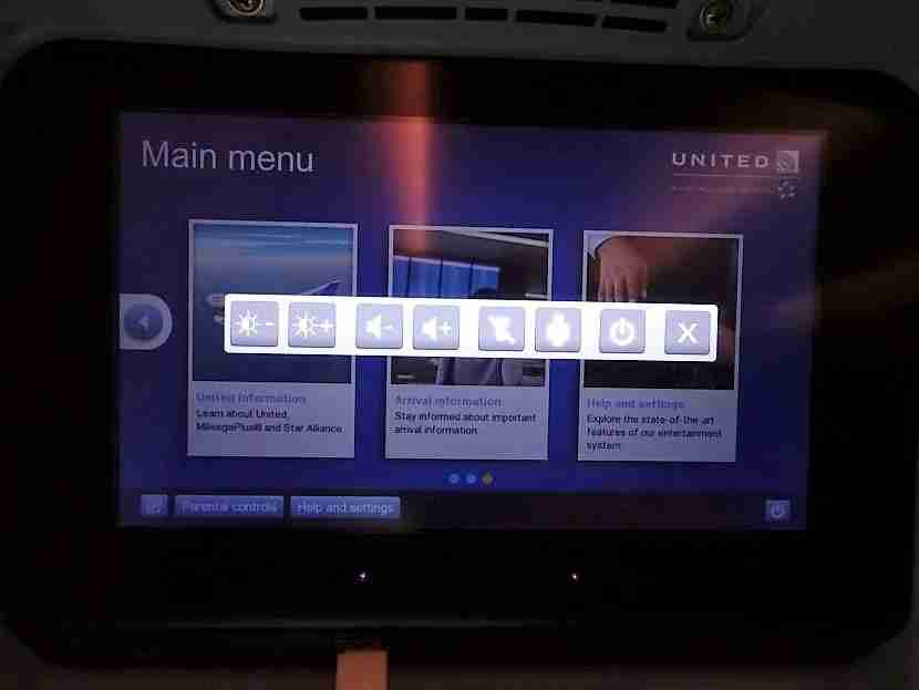 You have to navigate to this screen to call a flight attendant or turn off the light.