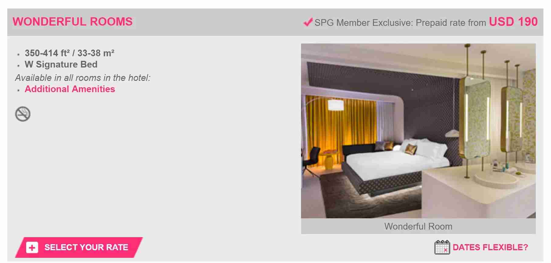 A screenshot of my booking at the W Bogotá.