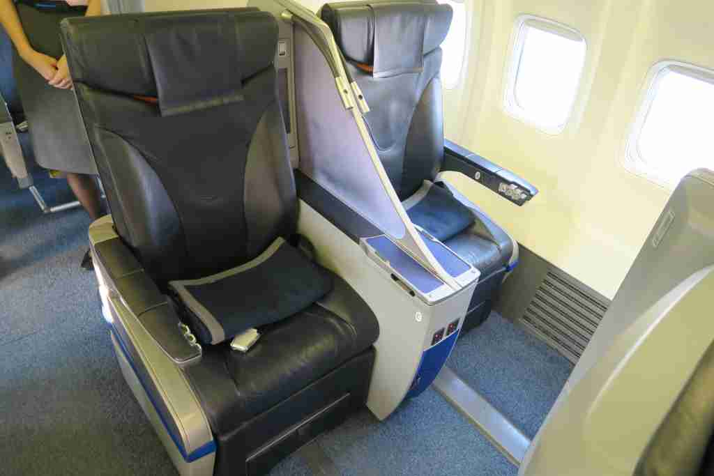 First class seats on ANA Wing