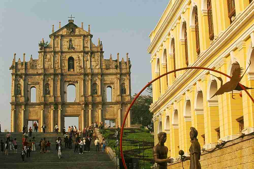 The remains of the St. Paul Church in Macao. Image by Eye Ubiquitous/Getty.