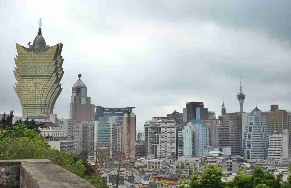 A view of the Grand Lisboa Hotel and Macau city center from the Fortaleza do Monte. Image by the author.