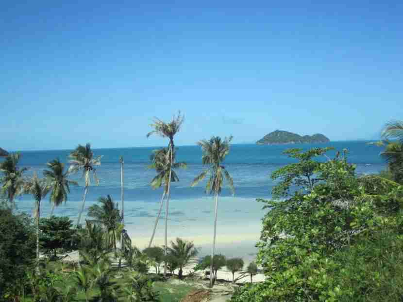 The view from one of my favorite Airbnb rentals ever, the Glass Cottage in Koh Phangan, Thailand.
