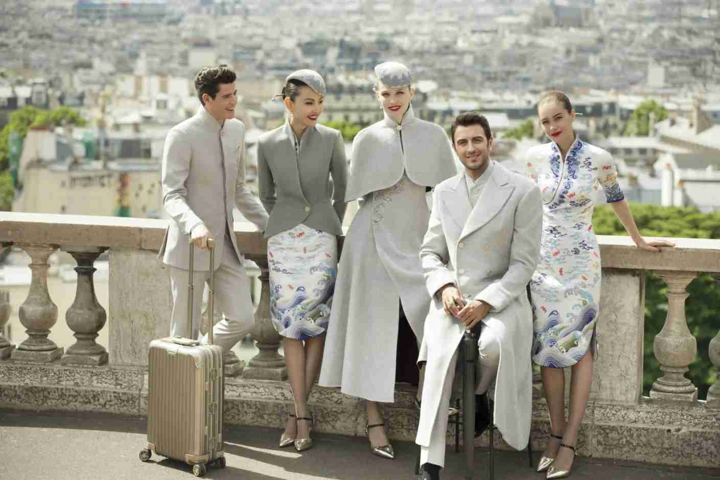 Yes, these are airline uniforms! Photo courtesy of Hainan Airlines.