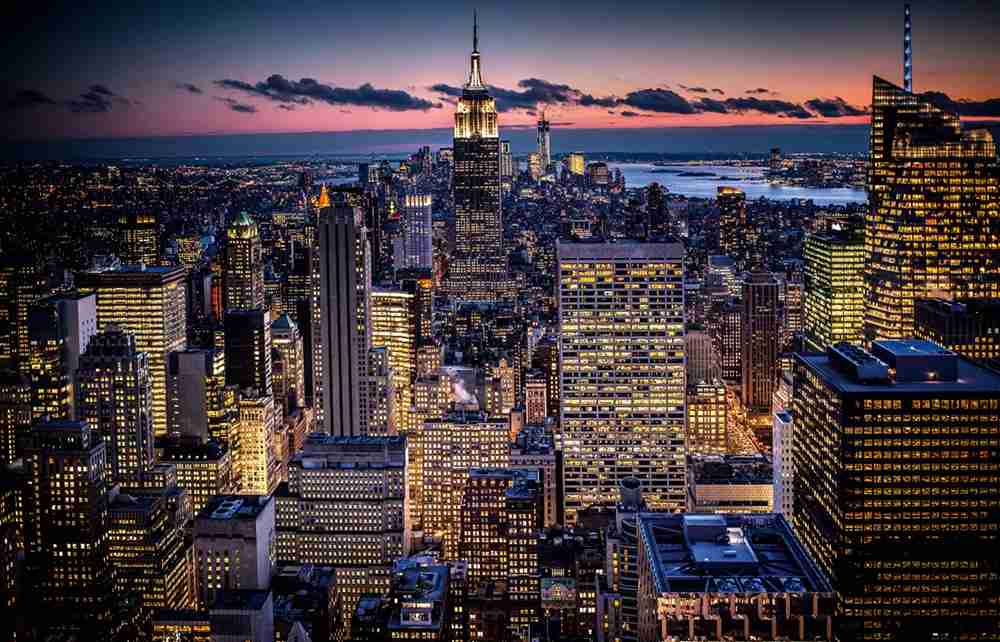 Lower Manhattan, view from Rockefeller Center (2013).