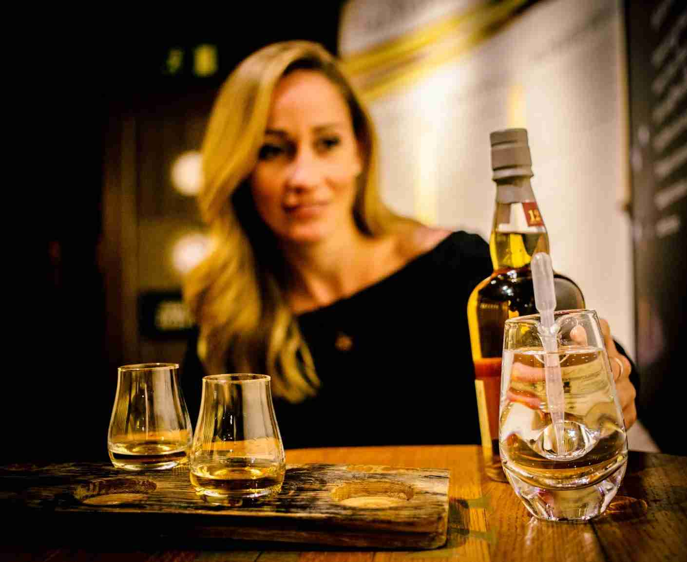 For just £5, you can sample a flight of whisky at Glenkinchie. Photo of the author courtesy of Jim Dean Photography.