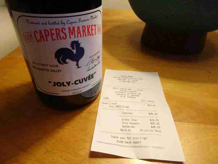 I was able to get an entire bottle of wine for free at Capers Market.