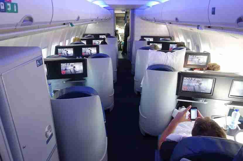 Delta 757 cabin back