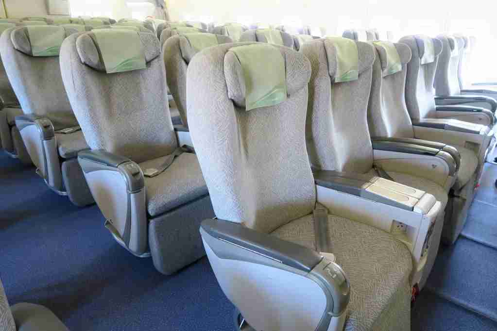 EVA Air 747 final flight Elite Class