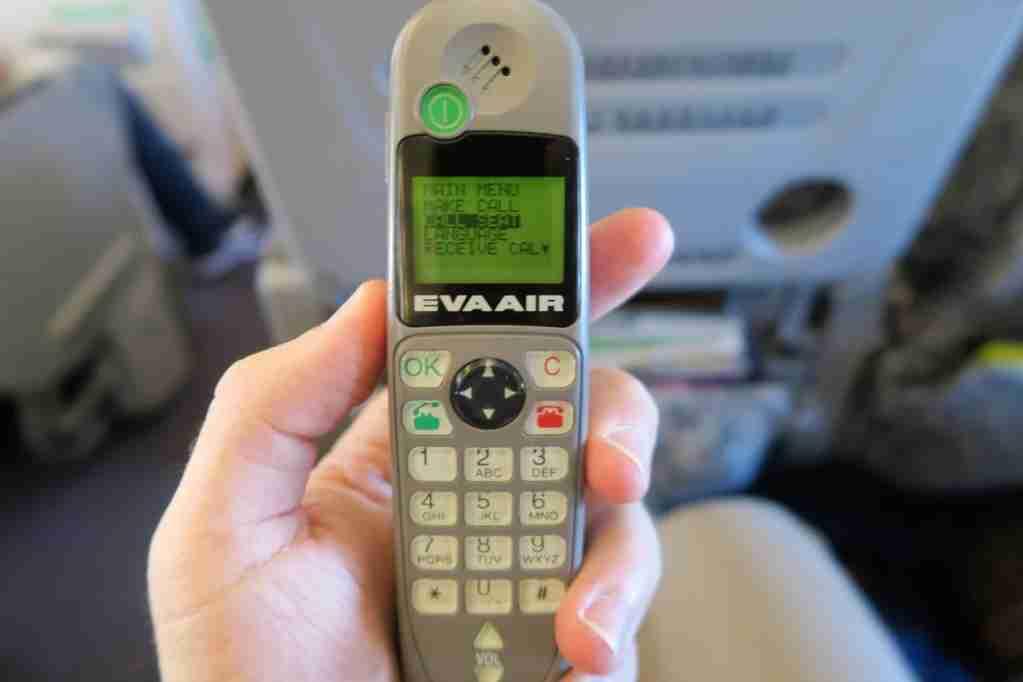 EVA Air final 747 IFE remote+phone