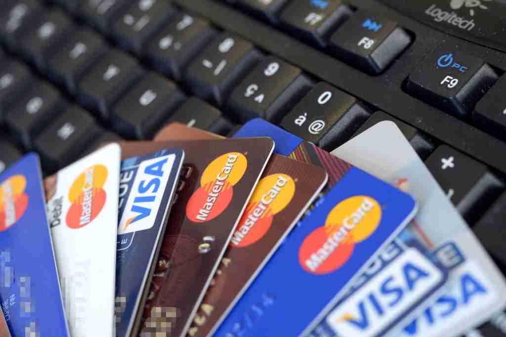 credit cards keyboard
