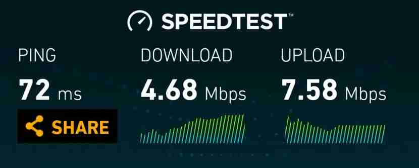 WiFi speeds on Cabin are better than in some hotels.