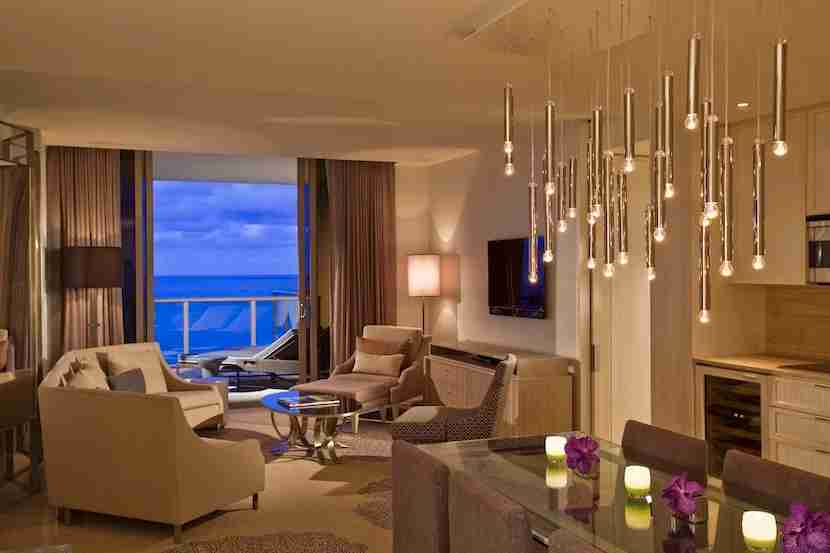 Sleep in a sumptuous royal suite at The St. Regis Bal Harbour Resort. Image courtesy of the hotel.