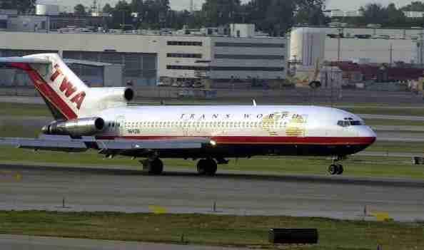 379433 02: Trans World Airlines flight 78, a Boeing 727 from New Orleans, lands September 30, 2000 at Lambert-St. Louis International Airport. The flight is the last flight by TWA of 727