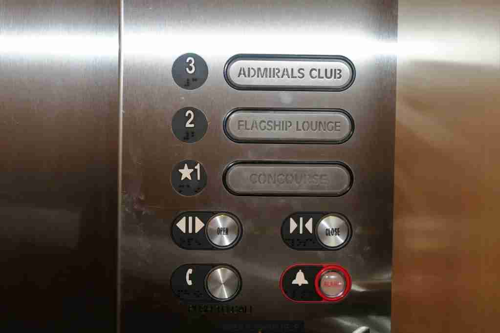 AA ORD Flagship Lounge - elevator buttons