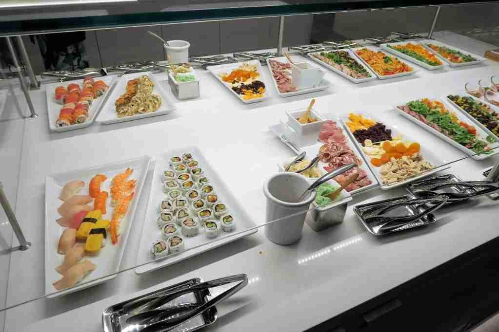 AA ORD Flagship Lounge - sushi