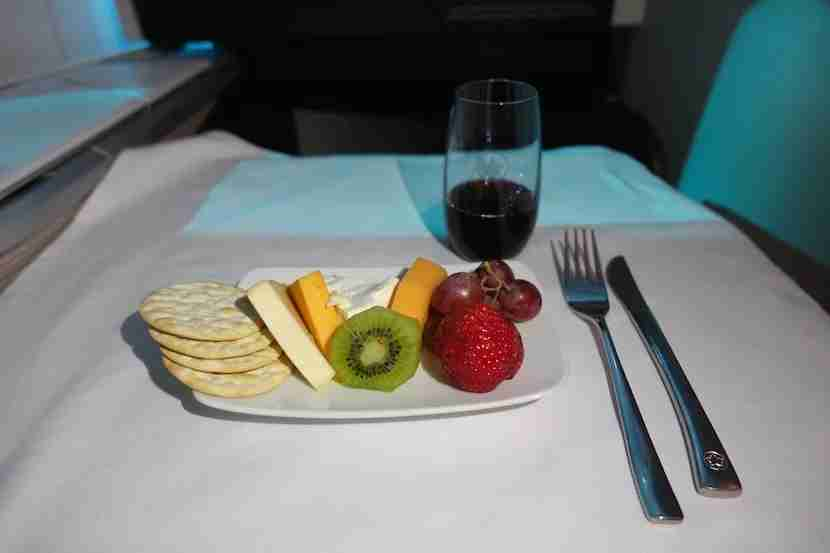 Air Canada cheese fruit