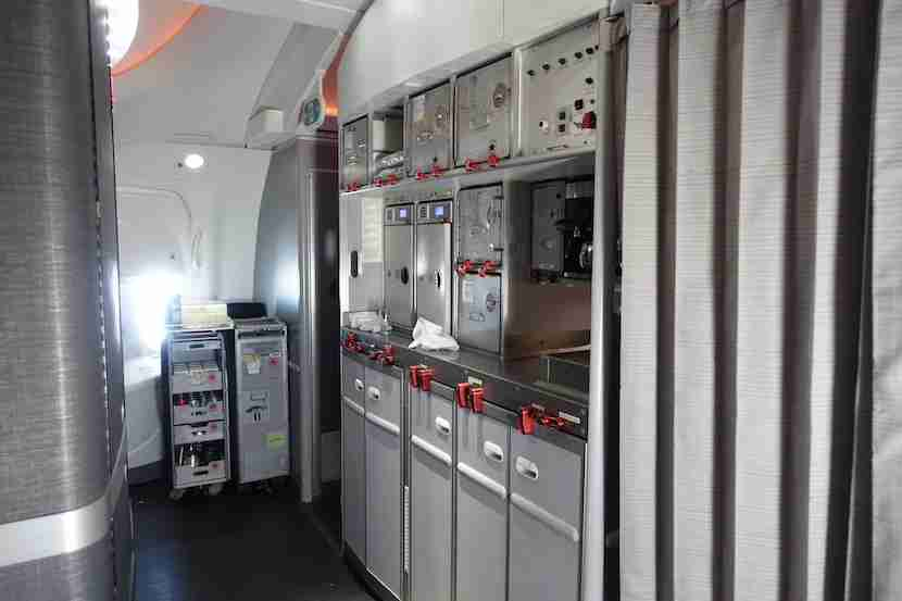 Air Canada galley