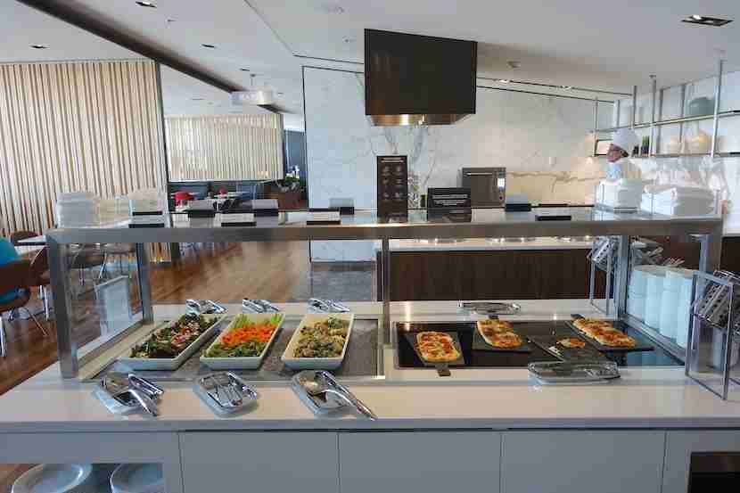 Air Canada lounge buffet