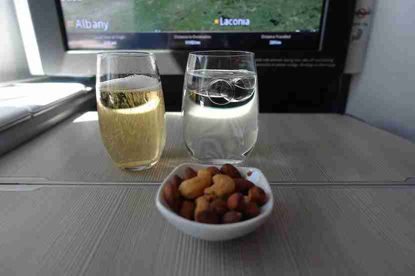 Air Canada nuts wine