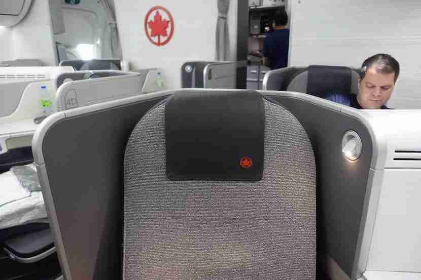 Air Canada seat back