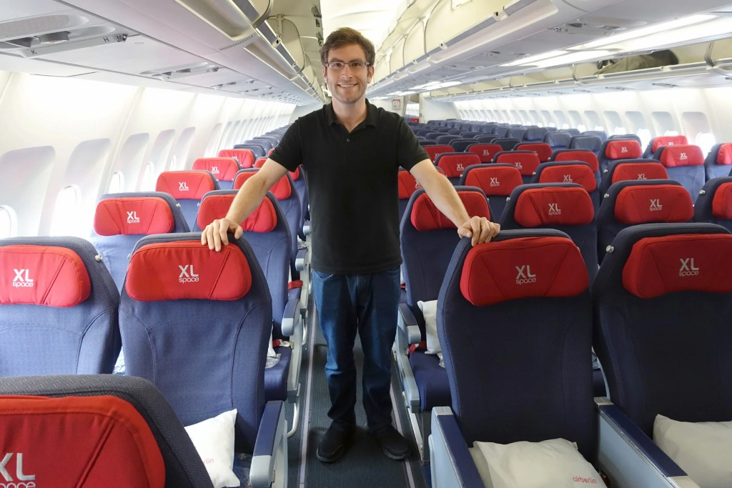I almost had the plane to myself on Air Berlin