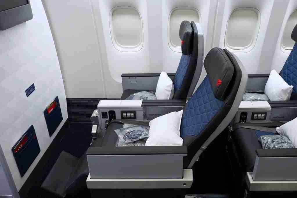 Delta Premium Select onboard a retrofitted Boeing 777