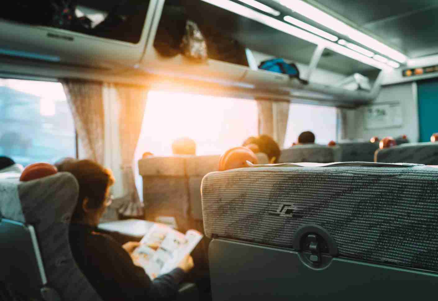 Overhead space full? Especially if you have a heavy bag, tuck your suitcase behind the last row of seats. Image courtesy of Quynh Anh Nguyen/Getty Images.