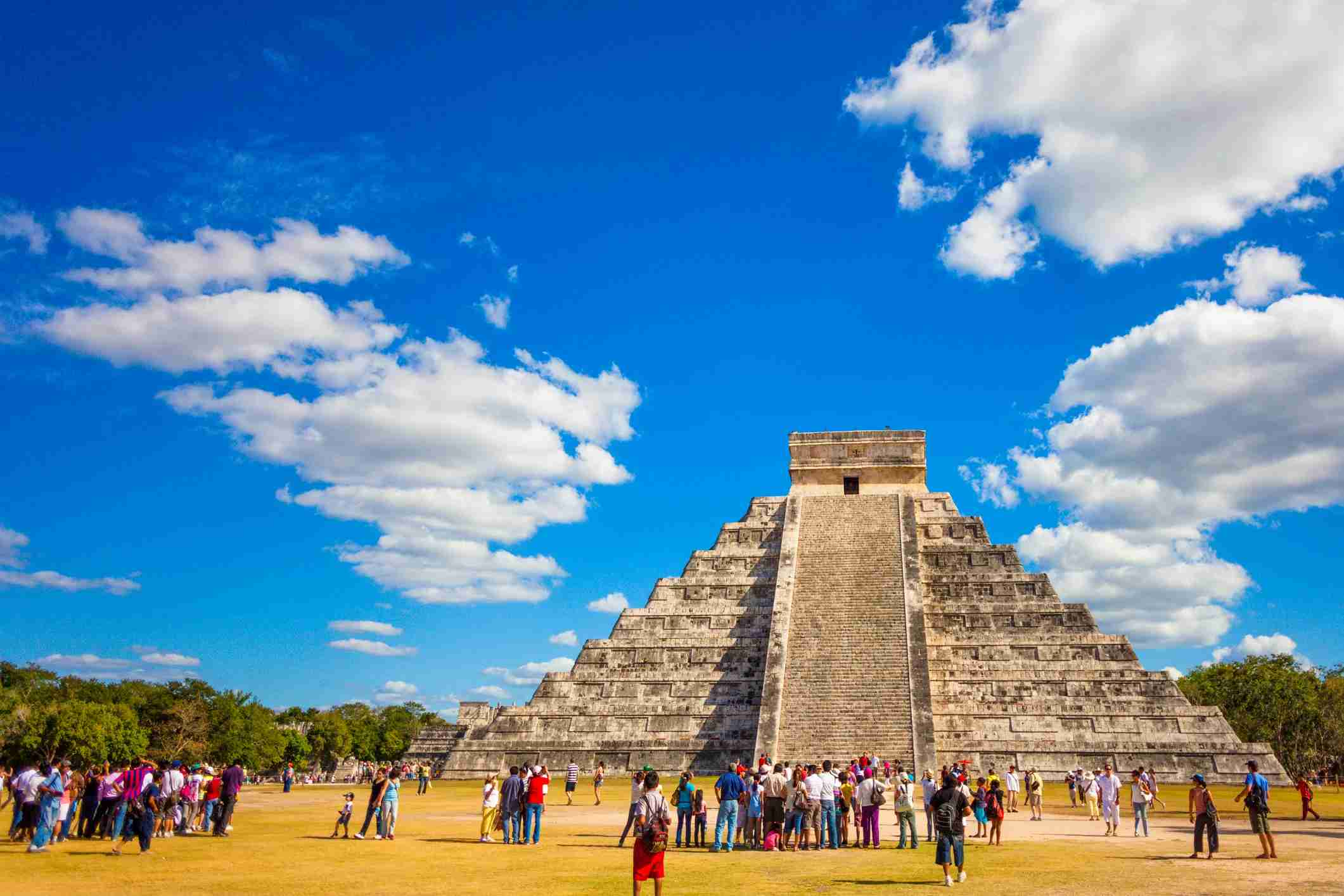 Image by Instants/Getty Images. Beautiful architecture of Kukulkan pyramid in Chichen Itza, this pre-Columbian city situated in Mexico's Yucatan state.