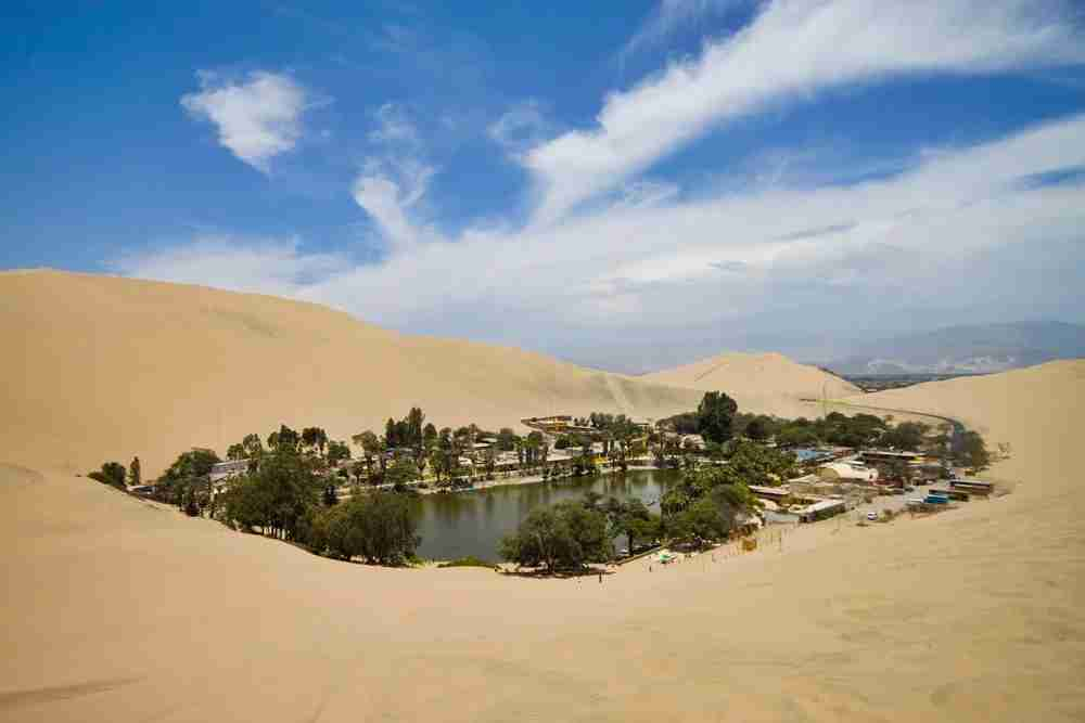 The desert oasis of Huacachina. Image by craigchiassonphotography / Getty.