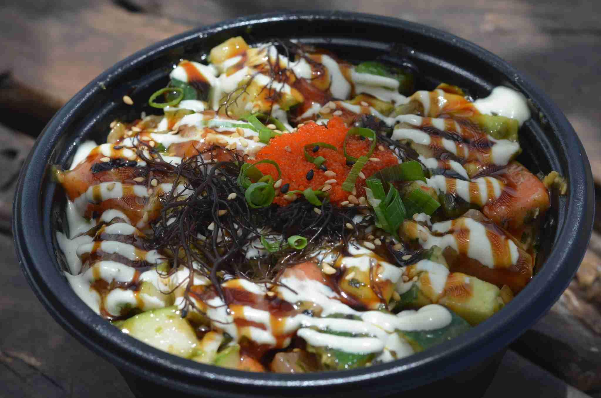 The Gorilla poke bowl by Makai Sushi.