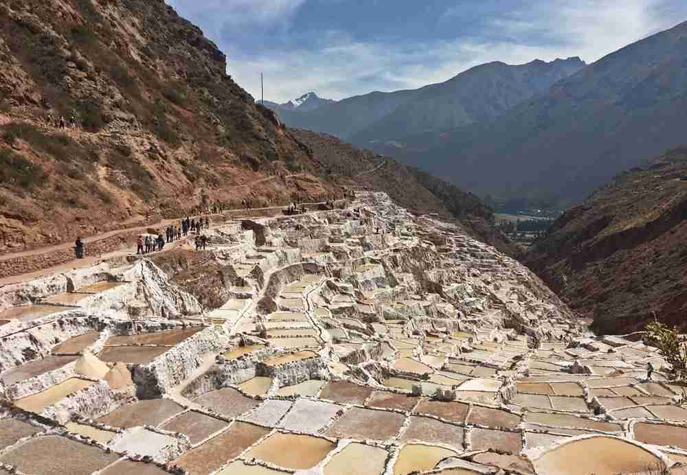 The salt mines of Maras, Peru. Image by Lori Zaino.