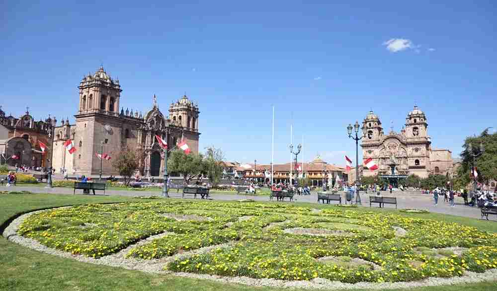 The Plaza de Armas in Cusco. Image by Lori Zaino.