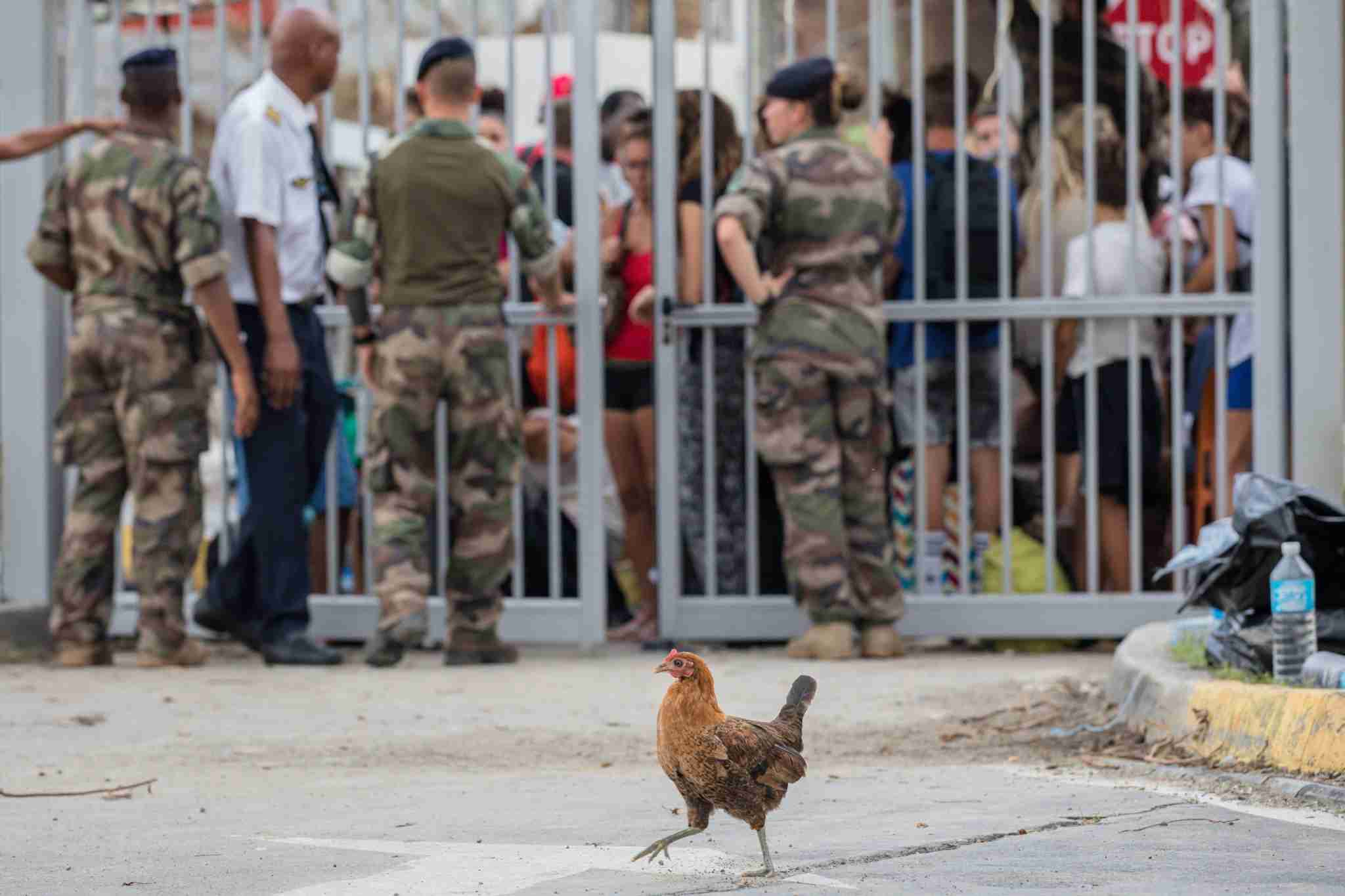 The French army secures access to the airport of Saint Martin on September 10, 2017 (Image by Aurelien Morissard/IP3/Getty Images)