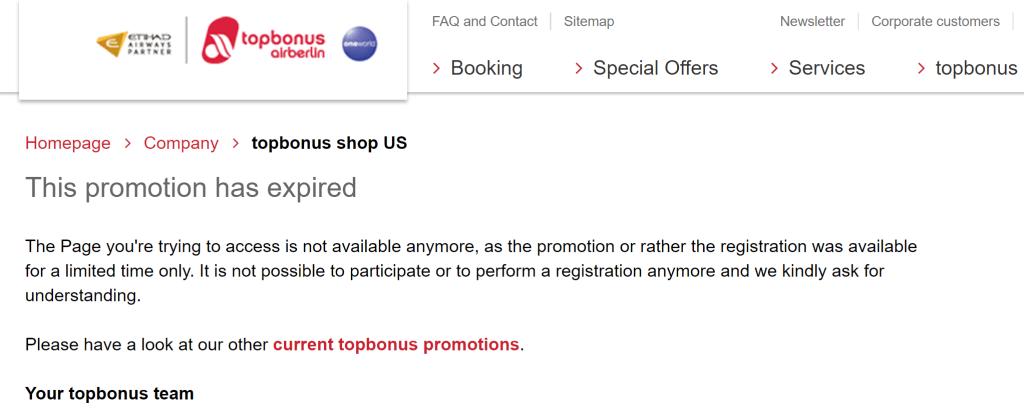 topbonus pop up shop error