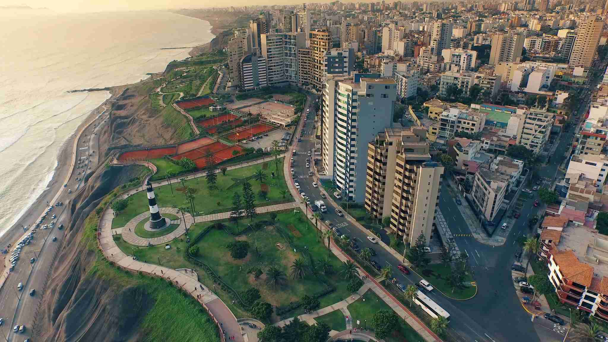 An aerial view of Lima