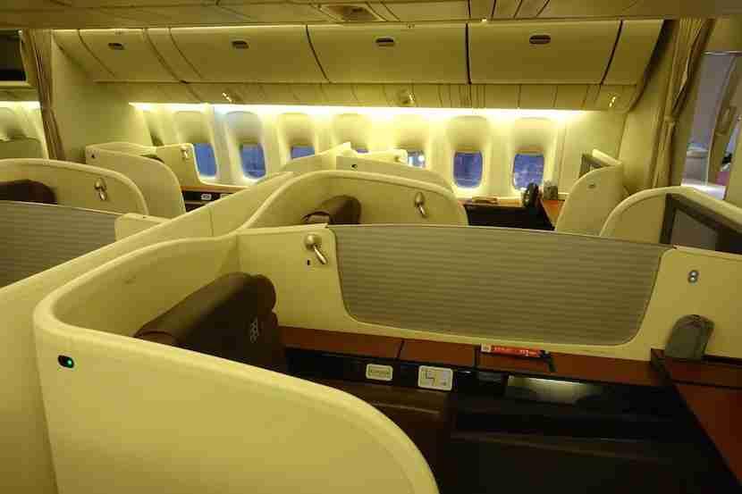 JAL first class across