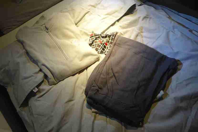 JAL first class pajamas