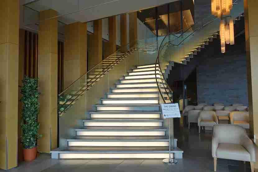 JAL sakura stairs