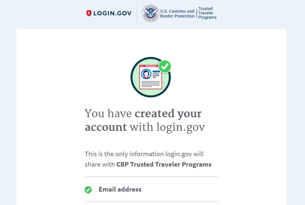 Login dot gov confirmation