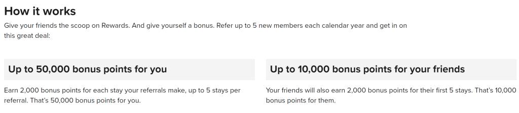 Marriott Reward a Friend program
