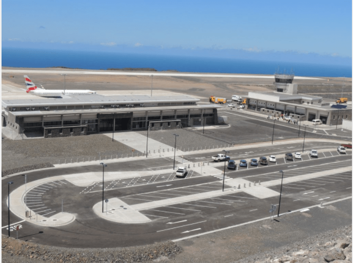 The new St. Helena airport (HLE). Image courtesy of St. Helena government.
